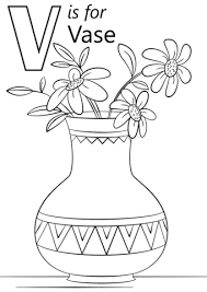 Click To See Printable Version Of Letter V Is For Vase Coloring Page