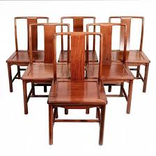Set Of Six Chinese Mid Century Modern Dining Chairs Hong Kong 1970a