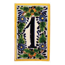 handcrafted address number tiles frames trails