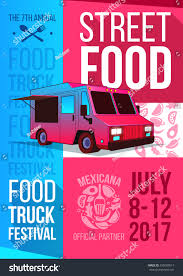 Food Truck Festival Food Brochure Vector Stock Vector (Royalty Free ...