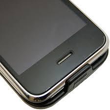 Premium Leather Flip Case iPhone 3GS 3G