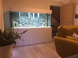3d aquariumrückwand grau passend für 200x60cm aquarium
