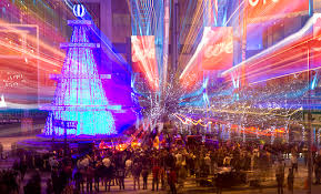 LA Live Christmas Tree In Nokia Plaza Downtown Los Angeles