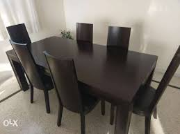 Dining Table With 6 Heavy Duty Chairs