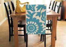 Dining Room Adorable Blue White Floral Chair Cover Chairs
