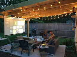 Patio Projector Project | RYOBI Landscapes Backyard Projector Screen Project Pictures With Capvating Bring The Movies To Your Space Living Outdoors Camp Chef Inch Portable Outdoor Movie Theater Photo How To Experience Home My New Screen For Backyard Projector 30 Hometheater Backyards Stupendous Screens For Goods Best 2017 Reviews And Buyers Guide Night Album On Imgur Camping Systems Amazoncom In A Box Dvd