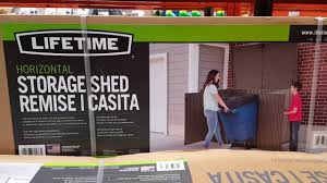 Suncast Horizontal Shed Bms4700 by Costco Lifetime Horizontal Storage Shed Or Trash Can Hider For