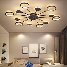 moderne led deckenleuchte wohnzimmer decken le schlafzimmer le küche le schwarz gold embedded panel le mit fernbedienung