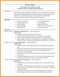 8 Commercial Truck Driver Resume Sample For Examples