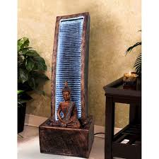 100 Home Decoration Interior Waterfall Buddha Fountain Showpiece For Indoor Living Room