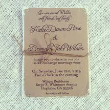 Rustic Kraft Wedding Invitations With Jute Twine On Ivory Burlap 75 Countrsvp Cards Info