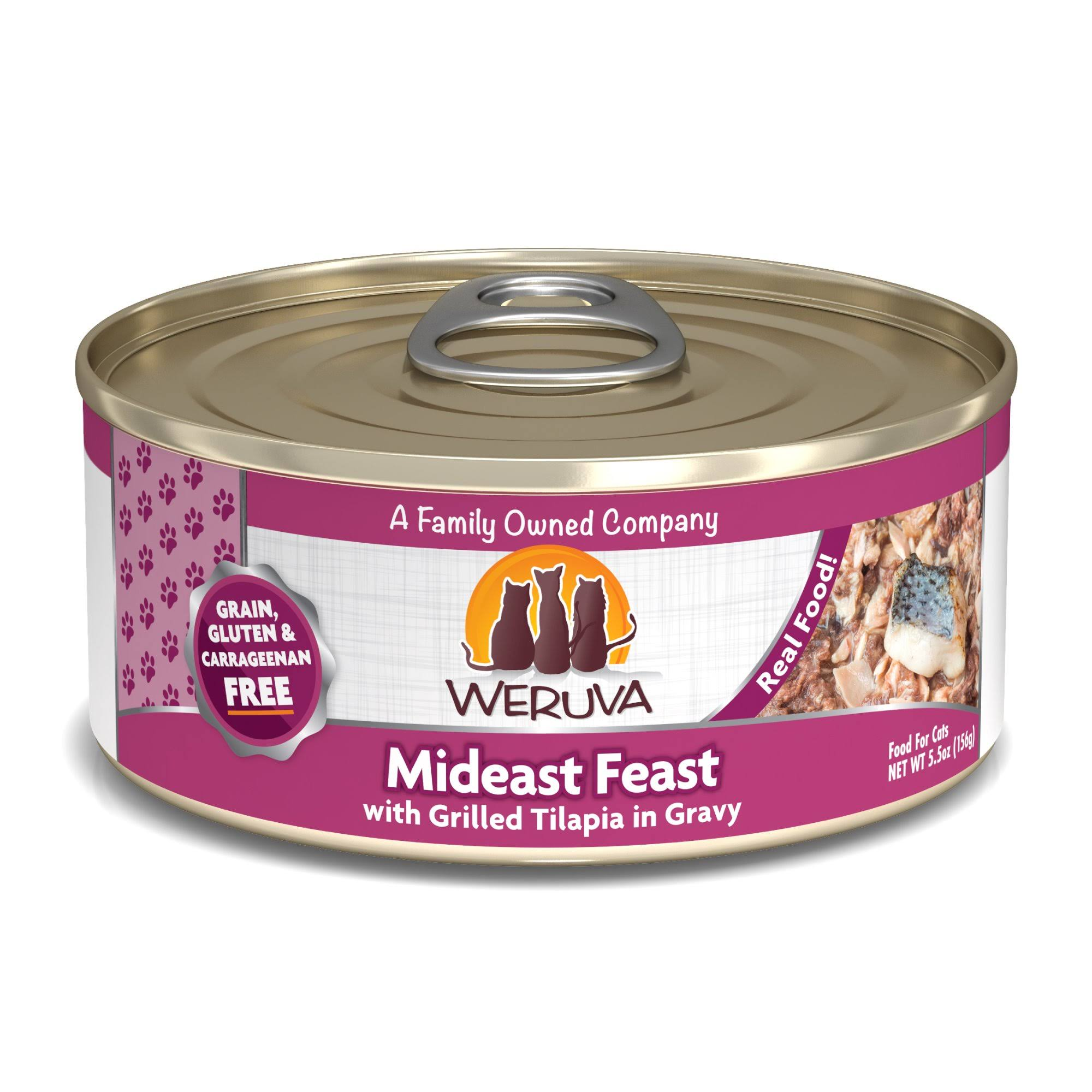 Weruva Mideast Feast Cat Food - with Grilled Tilapia in Gravy, 5.5oz