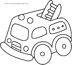 Truck Color Page Transportation Coloring Pages Plate Sheet Printable
