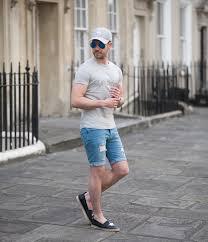 calvin klein t shirt and topman skinny denim shorts your