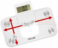 Taylor Bathroom Scales Instruction Manual by Taylor 7086 Min Bathroom Scale With Slide Out Display