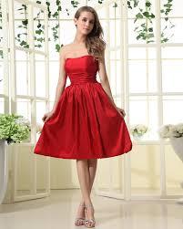 satin a line red bridesmaid dress from weddingdressus wedding