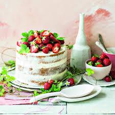 erdbeer rhabarber cake