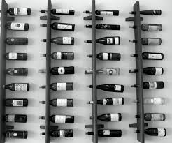 Robust Interior Four Grey Metal Wall Wine Rack Along With 38 Wine