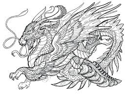 Real Dragon Coloring Pages Printable