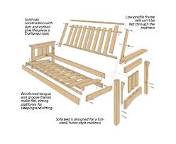 craftsman style futon sofa bed woodsmith plans 가구