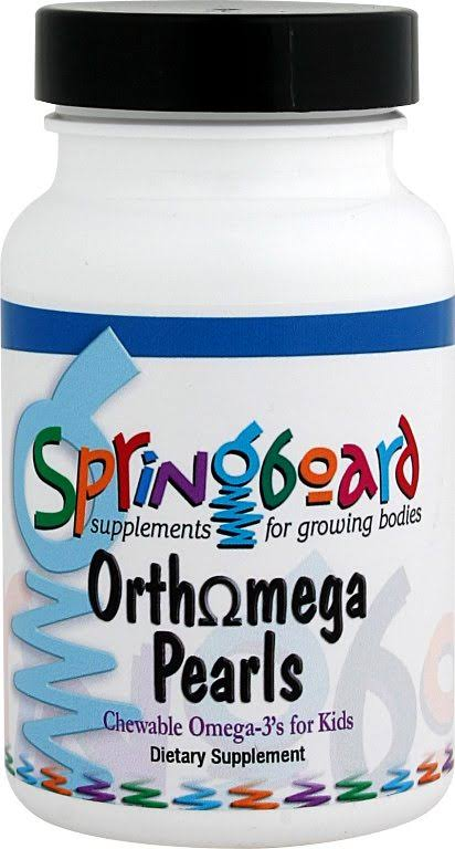 Ortho Molecular Products Springboard Orthomega Pearls Chewable Omega-3 for Kids - 120 Softgels