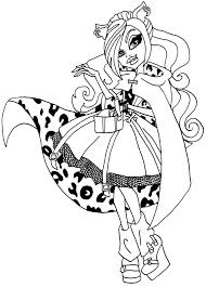 Luxury Monster High Coloring Pages Clawdeen Wolf 75 For Your Print With