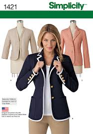 simplicity 1421 misses u0027 unlined jacket can be made with or