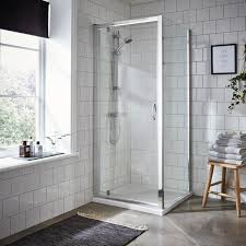 Pivot Bathroom Mirror Chrome Uk by Pivot Door Bathroom Enclosure Pebble Grey
