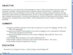 Example Of A Good Resume Objective Samples On Sell Yourself With How To Write Career