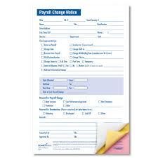 Small Payroll Status Change Form