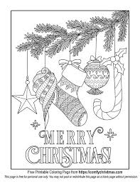 Free Printable Christmas Ornament Coloring Page For You To Download