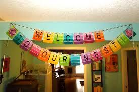 Housewarming Party Banner Decor Paint Samples