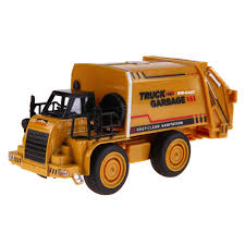 100 Diecast Garbage Trucks Alloy Car Model Pull Back Toy Truck Watering Transport