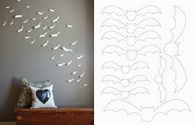 DIY Simple And Easy Paper Bat Wall Art
