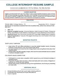 College Resume Objective Example Examples