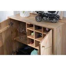 wohnling sideboard wl5 605 mango massivholz 72x92x45 cm landhaus kommode design anrichte klein mit weinregal hoher kommodenschrank mit 2 türen