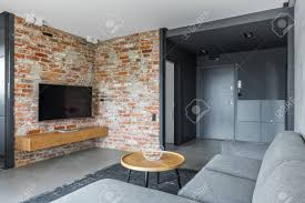 100 Loft Style Apartment Hallway And Room With Brick Wall In Loftstyle Apartment