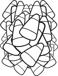 FREE Printable Candy Corn Coloring Page For Kids