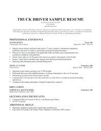 Truck Driver Resume Summary 28139 Ifestinfo