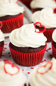The BEST Healthy Red Velvet Cupcakes Topped With Lots Of Sweet Cream Cheese Frosting