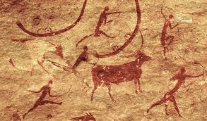 San Bartolo Murals National Geographic by Women And Cattle Rock Painting At Tassilli N U0027ajjer Algeria