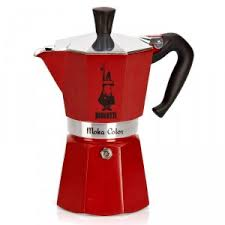 Bialetti Stove Top Coffee Pot Red