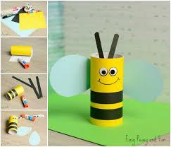 Cute Toilet Paper Roll Bee Craft For Kids Collage