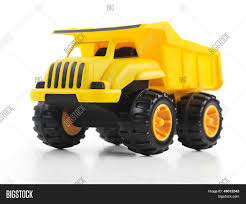 Yellow Toy Dump Truck Image & Photo (Free Trial) | Bigstock