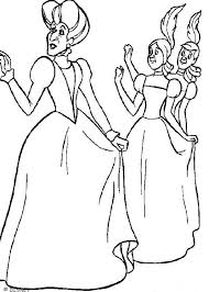 Evil Step Mother And Sister Coloring Page
