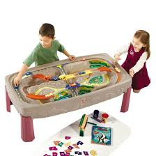 Step2 Deluxe Art Desk by Step2 Deluxe Canyon Road Train U0026 Track Table With Lid Target