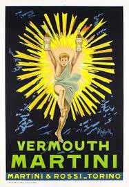 Vermouth Martini Second Authorized Edition Leonetto CAPPIELLO 1957 Circa