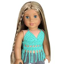 Fits Like American Girl Doll Clothes Aqua Crochet Bohemian Etsy