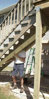 Sistering Floor Joists To Increase Span by Make An Old Deck Safe Fine Homebuilding