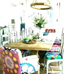 Bohemian Chairs Furniture Chic Style Room Eclectic Living Recent Dining Set Multi Color Paisley Parson Upholstered